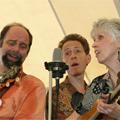 Washington Folk Festival, Glen Echo, Maryland, June 2007. L-R: Randy Barrett, Ira, Dede Wyland.